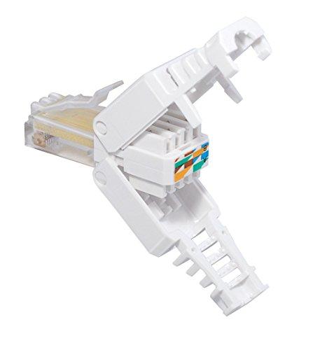 MANAX® Tool-Less RJ 45 Stecker CAT 5, CAT 6 für UTP Kabel - werkzeuglose Montage - 5 Stück