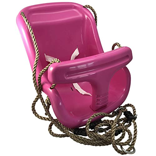 Loggyland Babyschaukelsitz mit Seil und Befestigungsringen (pink)