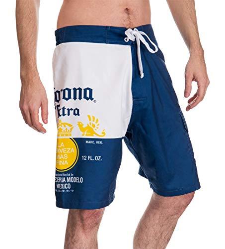 Corona Mens Bottle Label Boardshort (Large)