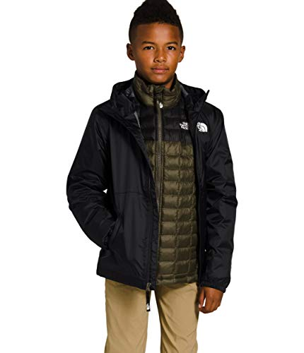 The North Face Youth Zipline DWR Rain Jacket, TNF Black, Large