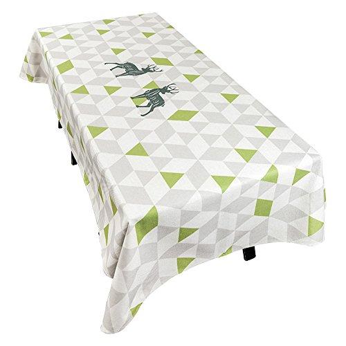 WERLM Scandinavische minimalistische originele eettafel, modern, tv-meubel, salontafel van stof, servetten, tafelvlag, wit