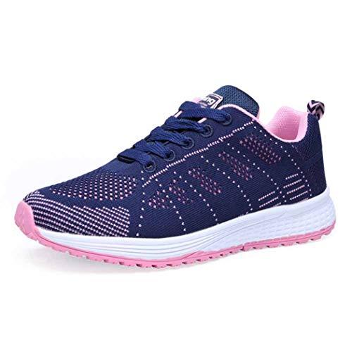Frauen Casual Sportschuhe Mode Männer Laufschuhe Mesh Sneakers rutschfeste Low Top Schuhe Atmungsaktive Schnürschuhe zum Joggen