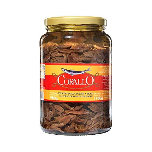 Filetes de anchoas en trozos en aceite de girasol Gr. 720[6 packs]