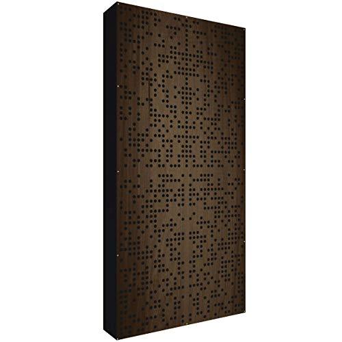 Binary Diffusor WOOD 120x60x11,5cm by Addictive Sound | Akustik Diffusor verbessert die Raumakustik und Schalldämmung | Akustikpaneel – Wenge