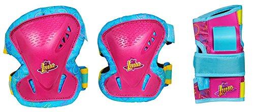 Powerslide SOY LUNA Schutzset, Pink, Mädchen, Disney, Protection, trendiges Design, Größe EUR XS, S, 992005