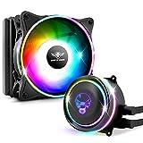 nsk Kit de Refroidissement Liquide Force 120mm PWM Spirit of Gamer pour processeur avec éclairage LED ARGB - 2300 RPM - CPU