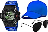 New Trend New Series Combo for Men's and Boy's WATCH-01-SUNGLASS-01-CAP-01 New Demand for Men and Boys HOT and Cool Looking Today Generation Best Deal and Fast Selling Digital Watch - for Boys