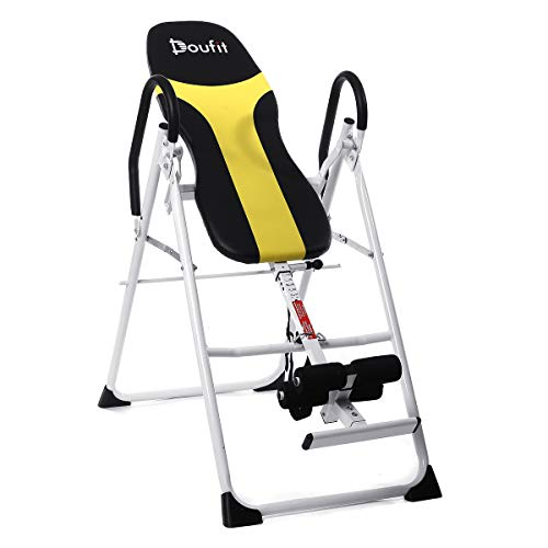 Buy Cheap Doufit Inversion Table for Back Pain Relief, IT-01 Foldbale Heavy Duty Inverted Gravity Eq...