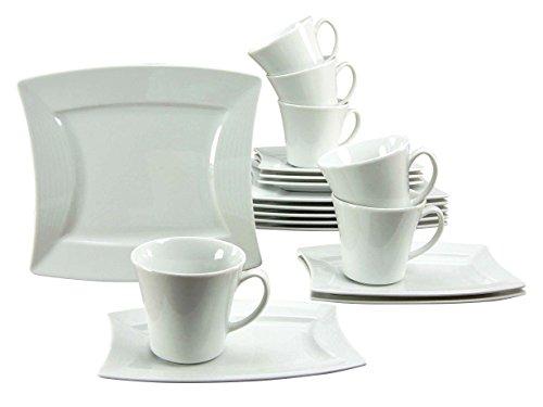 Creatable, 19956, Série Sailing Blanc, Service à café de 18 pièces, Porcelaine, 30,5 x 24 x 32,5 cm
