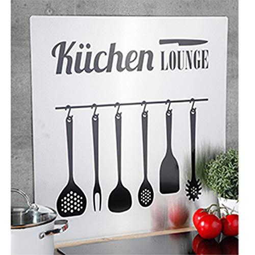 Wand Spritzschutz Herd-Wand-Abdeckung Spritzschutz Fliesenspiegel Küchenrückwand Edelstahl B59xH56,5cm