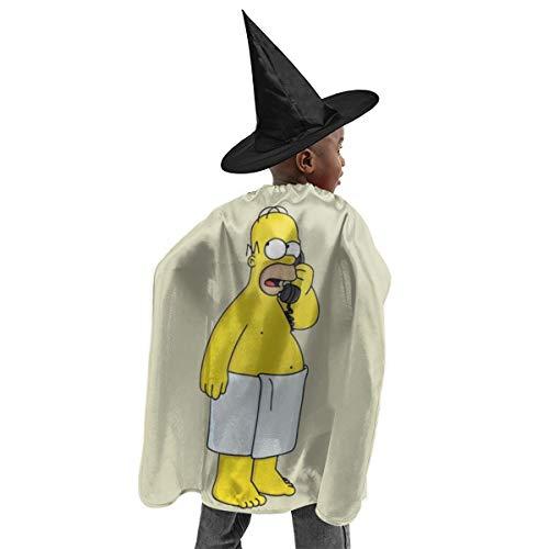CrazyCoolArt Simpson Homer - Juego de disfraz de bruja para Halloween, disfraz de bruja