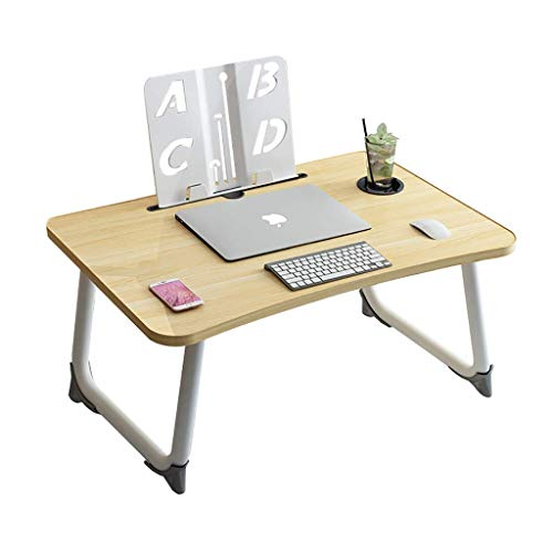 AOIWE Lap Desk, Laptop Desk On The Bed, Study Desk In The Student Dormitory In The Bedroom, Simple Foldable Small Lazy Desk (Color : B)