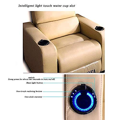 Leather Recliner Recliner Chair Single for Couch Sofa Lounge Chair Adjustable Manual Lift Home Theater Seat Best Choice for Elderly