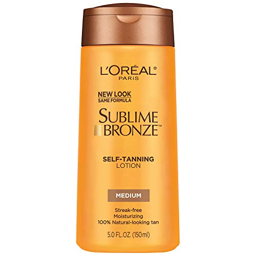 L'Oreal Paris Sublime Bronze Self-Tanning Lotion, Medium Natural Tan, 5.0 Ounces