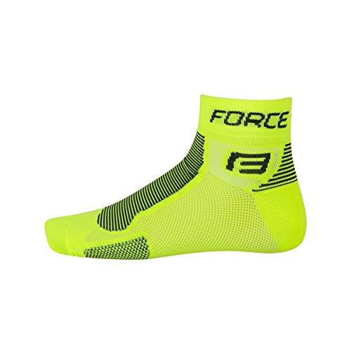 Force Bike Socken Classic 1 (Neongelb-schwarz, L-XL (42-47))