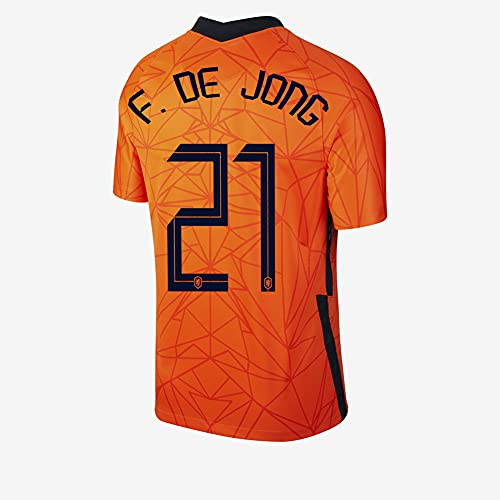 Ayundong 2021 F de Jong Pais Camiseta de Futbol de Hogar para Hombre Talla S