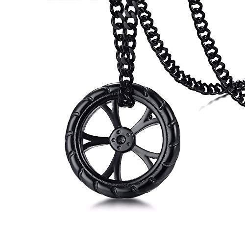 ShZyywrl Collar De Joyas Regalos para Aniversario Cumpleaños De La Madre Collar Cragar Racing mag Wheel Colgante Collar para Hombre AC