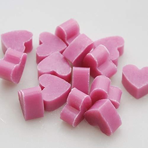Florex Lot de 100 mini savons au lait de brebis en forme de cœur avec mini cœur Noir