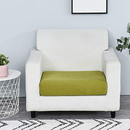 Funda de sofá Color sólido Protector Funiture Jacquard Grueso del sofá cojín del sofá Fundas de colchón Asiento Protector Funda elástica (Color : Grass, Specification : 1pc Enlarge Size 2)