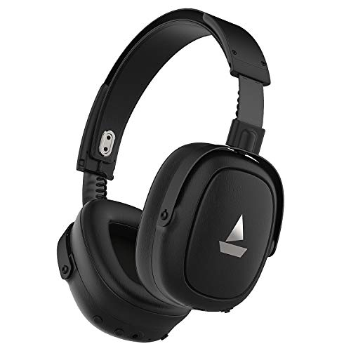 boAt NIRVANAA 717ANC Active Noise Cancellation Headphones with Bluetooth v5.0, IPX4 Sweat & Water Resistance & HD 40mm Dynamic Drivers (Premium Black)
