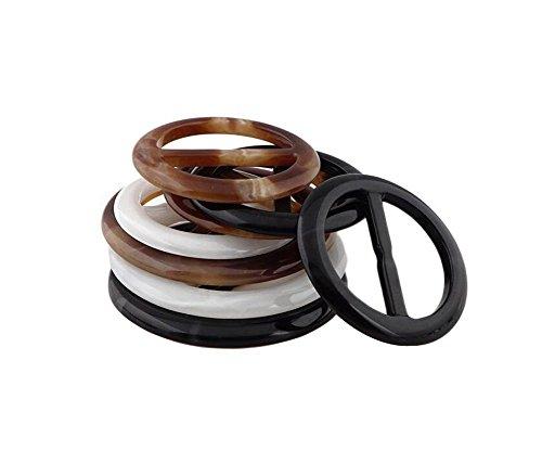 HugeDE 6 Stück Rund Kunststoff Schal Clip Schalclip Schal Verschluss Schalring Tuchclip
