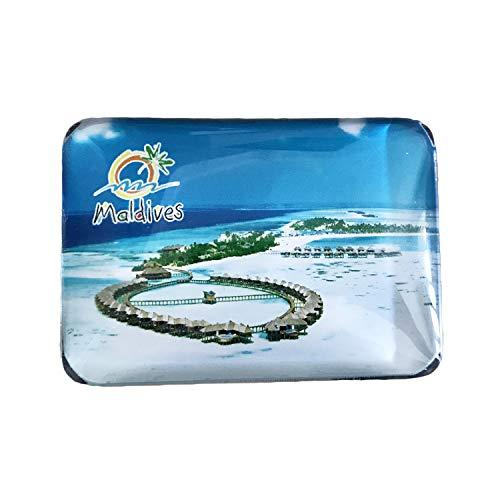 3D Malediven Kühlschrank Kühlschrankmagnet Kristall Glas Magnet Handmade Tourist Travel Souvenir Sammlung Geschenk Whiteboard Magnetischen Aufkleber Dekoration