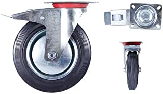 Transportwielen, zwenkwielen, bokwielen, zwenkwielen, rem 75-100-125-160-200 Lenkrolle Tr-03f 200 Mm