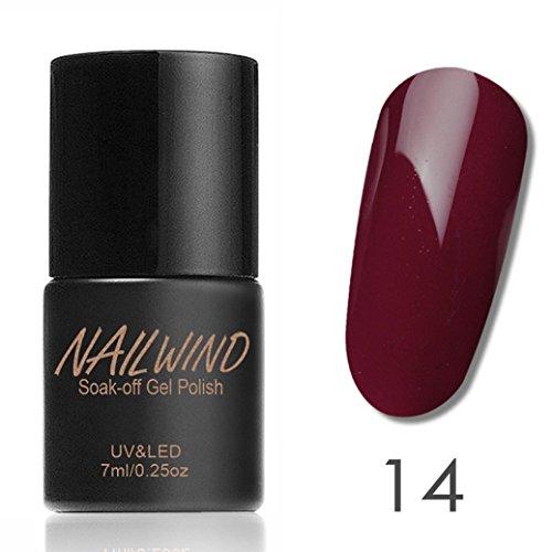 LCLrute NAILWIND dauerhafte Frauen 7ml Gel Nagellack Nail Art Gel Polnisch UV LED Gel (N)