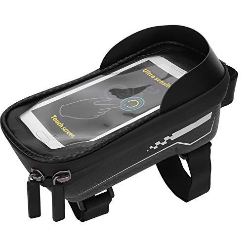 FOLOSAFENAR Bolsa de Bicicleta para teléfono móvil Bolsa de Almacenamiento de Bicicletas Bloquear eficazmente la luz Bolsa de Bicicleta EVA a Prueba de Lluvia Impermeable para Bicicleta