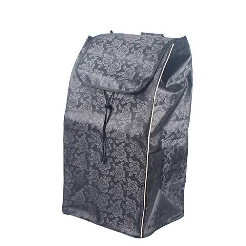 Einkaufswagen-Shopping Trolley Ersatzbeutel, Einkaufswagen-Tasche, Ersatztasche for Trolley, Oxford-Stoff-Tasche (Größe: 37,5 × 28,5 × 67cm) 72L