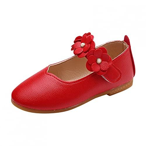 Leder Kinderschuhe 20 Mädchen Prinzessin Schuhe Jungen Tanzschuhe Mit Klettverschluss Freizeitschuhe Blumen Einzelschuhe Rutschfest Kinder Schuhe Weicher Boden Mädchen Schuhe
