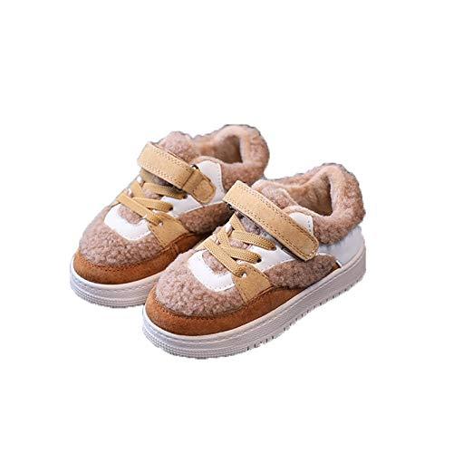 Niños Zapatillas de Deporte para niños pequeños Niños Niñas Invierno Plataforma Forrada de Felpa Zapatos cálidos Niños Deporte Casual Botas de Nieve Impermeables