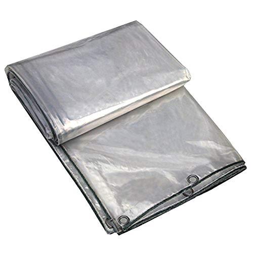 SSRS Lona Lona alquitranada toldo Transparente Capa de PE Impermeable a Prueba de Viento Doble Shed La luz del Sol Cortina Lateral Actividad Suave insípido Anti-envejecimiento de 220 g/m², de 0,3 mm