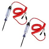 2 Pack Heavy Duty Automotive Circuit Tester, findTop Professional Circuit Tester with Indicator Light, Extended Spring Test Leads, Long Probe with Alligator Clip for Continuity Car Voltage