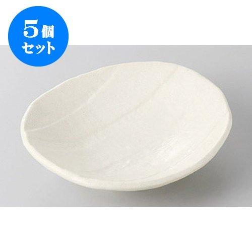 5個セット 銘々皿 縄文白楕円4.0皿 [13.8 x 12.7 x 3.6cm] 【料亭 旅館 和食器 飲食店 業務用 器 食器】