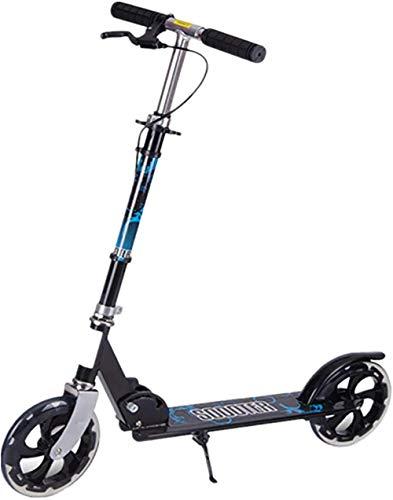 Scooter deportivo Scooter cubierta con ruedas de alto impacto se ajusta a 3 alturas Freestyle Kick Scooter Marco de aluminio T-Bar manillar para jinetes de hasta 200 libras