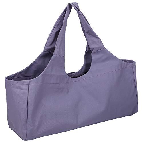 DAUERHAFT Bolsa de Yoga, Bolsa de Hombro de Yoga Duradera y Duradera, Gran Capacidad Paquete de Yoga de Gran tamaño Equipaje Almacenamiento de Ropa Deportiva Bolsa de un Solo Hombro(púrpura)