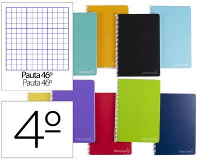Cuaderno espiral liderpapel A5 witty tapa dura 80h 75gr rayado nº 46 colores surtidos. (5 Unidades)