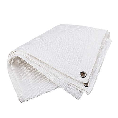 ALYR 85% Shade Cloth, HDPE Shade Fabric Breathable Moisturizing Sunblock Net for Pergola Cover Canopy,white_5x3m/15x9ft