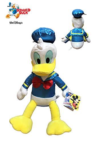 Mickey Mouse-760014113 by Play Peluche Donald Oficial Disney Soft 40cm, Color Azul/Amarillo/Blanco, 30 Cm Sentado Y 40 Cm De Pie (8425611341137)