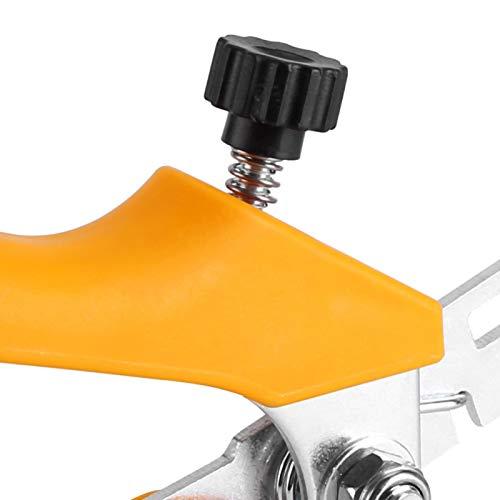 Cosiki Sistema de nivelación de baldosas, instalación Alicates de nivelación de baldosas Resistentes, diseño ergonómico Duradero Trabajo de Alta precisión para Oficina de Estudio en el(Yellow)