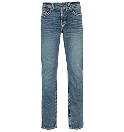 True Religion Geno Slim Fit Dark Champion Jeans in Blau