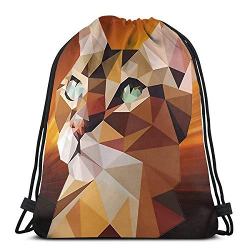 LREFON Mochila con cordón para gimnasio, mochila de gato de Bengala, mochila para viajes, organizador de zapatos, hombro escolar, bolsas de regalo para niños