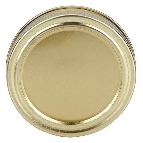 Uxsiya Cubierta de sellado Split‑Type Jar Tapa 70mm para miel para cocina (XH00176 dorado)