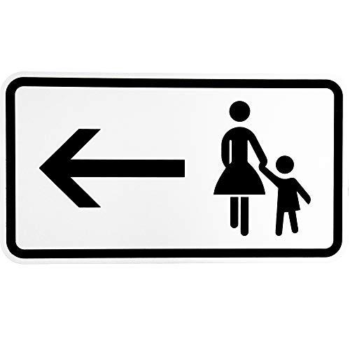 """BauSupermarkt24 ORIGINAL Verkehrsschild Nr. 1000-12"""" Fußgänger Gehweg Links gegenüber benutzen Verkehrszeichen Schild Straßenschild Zusatzschild Verkehrsschilder Verkehrsschild Straßenzeichen"""