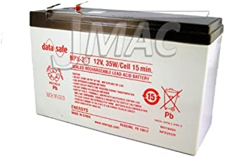 DataSafe NPX-35T - 12 Volt/35 Watts per Cell Sealed Lead Acid Battery with 0.250 Connector