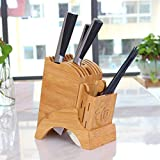 knife holder,Bamboo Knife Storage Block,kitchen knife holders without knives Hold Multiple Large Blade Knives(Knife not includes) (knife holder 1pack yellow)