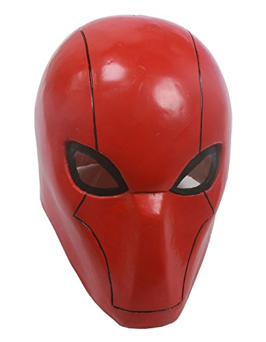 XCOSER UTRH Mask Helmet Red Hood Mask for Movie cosplay Adult Red