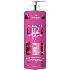 abril et nature | Mascarilla Capilar Anti Frizz NATURE FRIZZ | Mascarilla Profesional de Peluquería Antiencrespamiento | 100% Vegano | Fácil peinado 1L