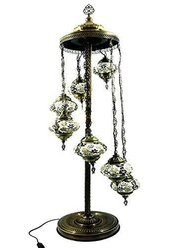 Oosterse Turks stijl Glasmozaïek Ottoman Aziatisch handgemaakte mozaïek glas vloer lamp binnenverlichting Oosterse lamp glas vloerlamp 7 lampen glasmaat 2